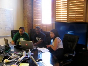 Part of the Code Mountain team at the Pathfinder office